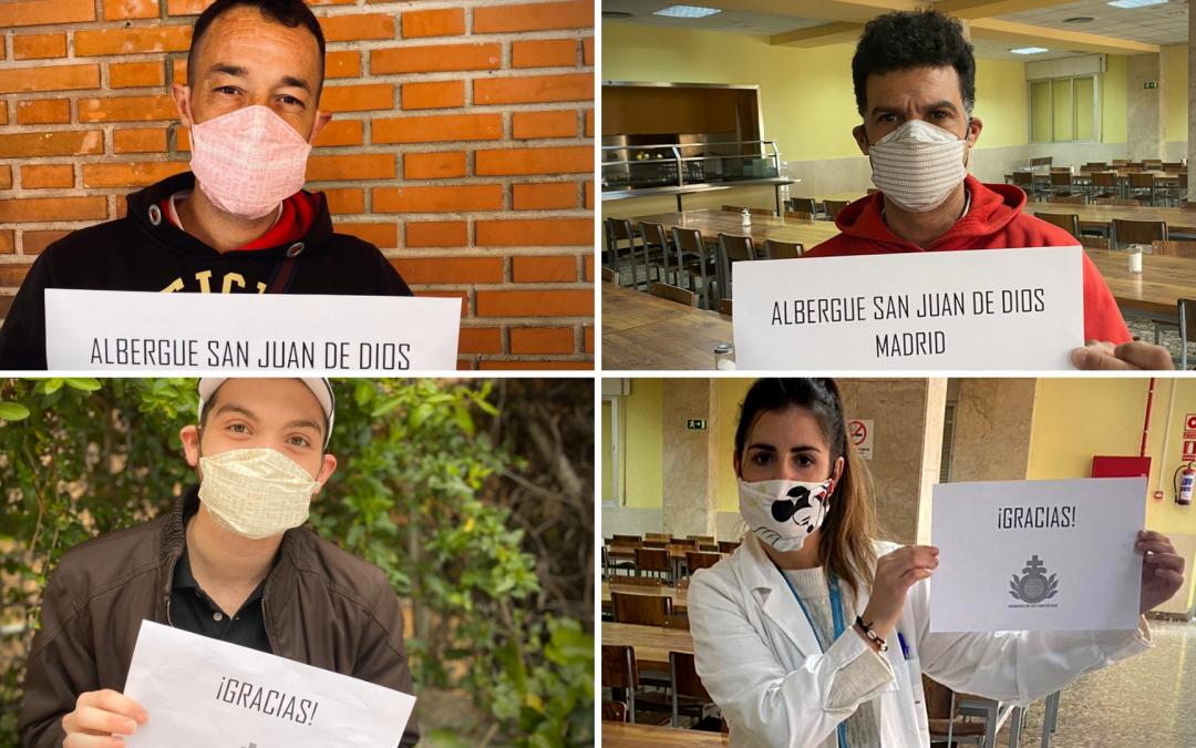 """""""Gracias por proteger del Coronavirus a quien no tiene casa"""""""