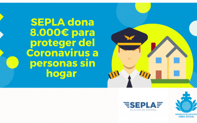 Coronavirus: SEPLA dona 8.000€ para proteger a personas sin hogar