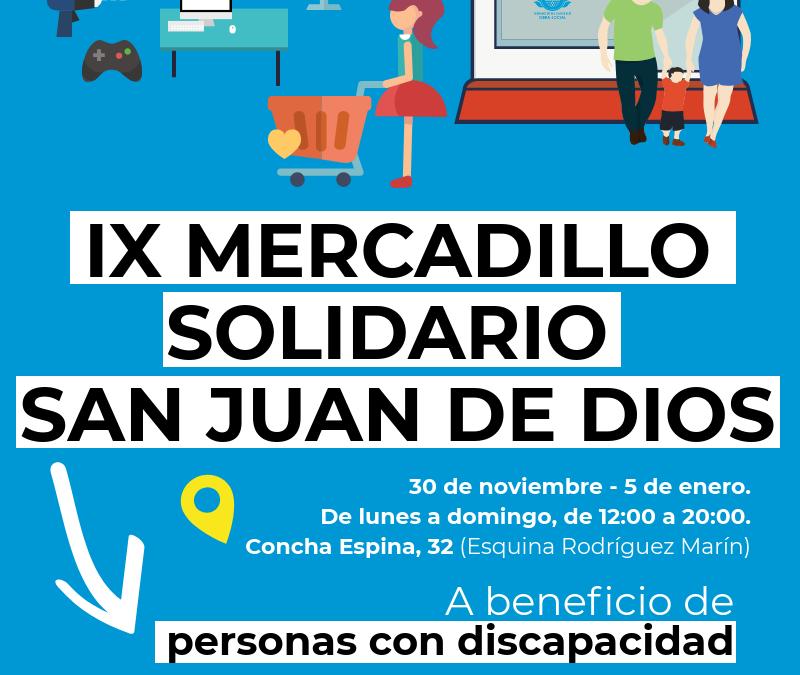 El próximo 30 de noviembre regresa el tradicional Mercadillo Solidario